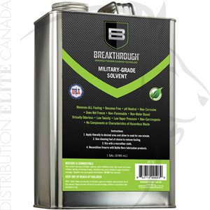 BREAKTHROUGH MILITARY GRADE SOLVENT - ONE GALLON CAN